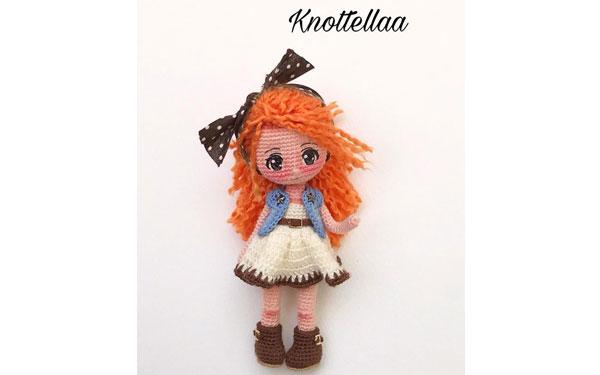Вязаная кукла Элла. Схема