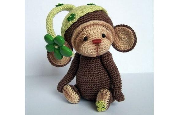 Вязаная обезьянка Милашка. Схема