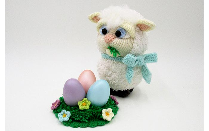 Вязаная голубоглазая овечка. Схема