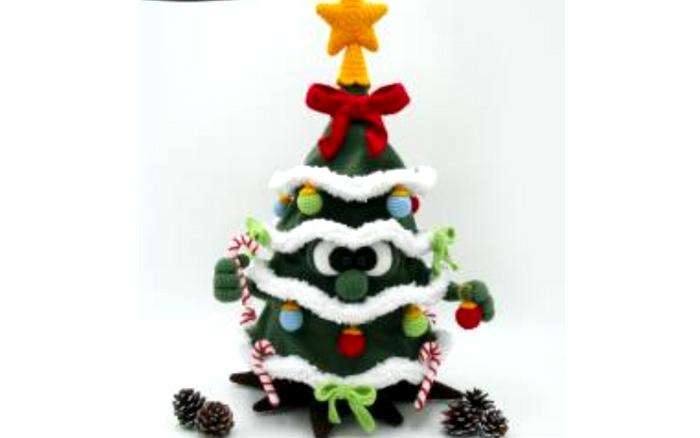 Вязаная Рождественская елка. Схема