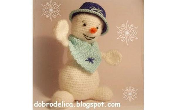 Вязаный снеговик от Ольги Павловой. Схема