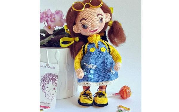 Вязаная кукла Билания. Схема
