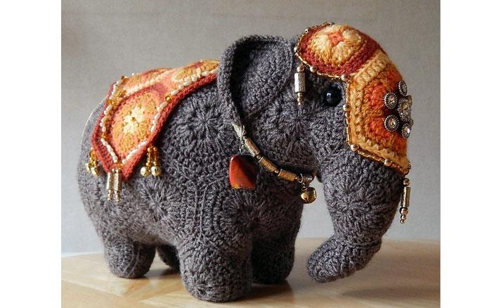 Слон из мотивов. Схема