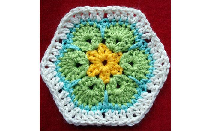 Африканский цветок. Схемы вязания