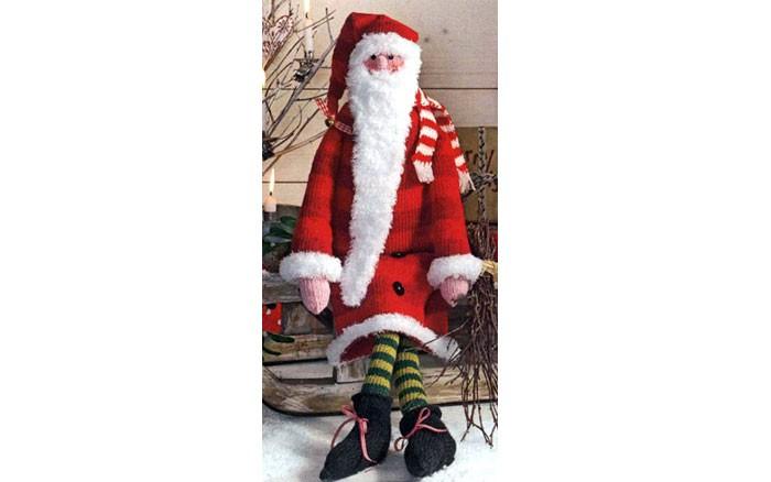 Дед Мороз Тильда. Спицами