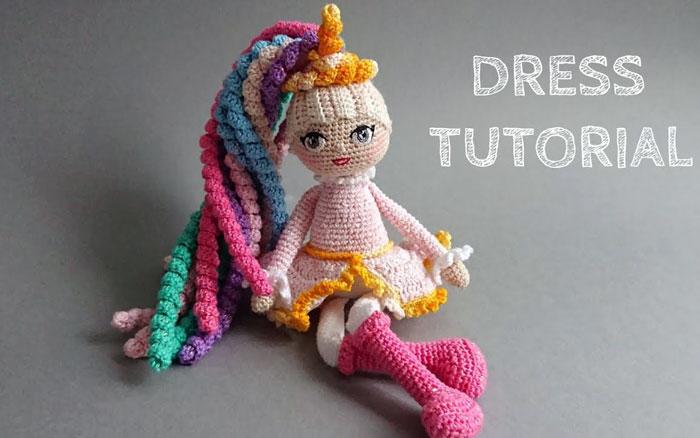 Вязаная кукла Единорог. Мастер-класс