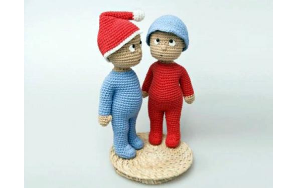 Вязаные куколки Малыши. Схема