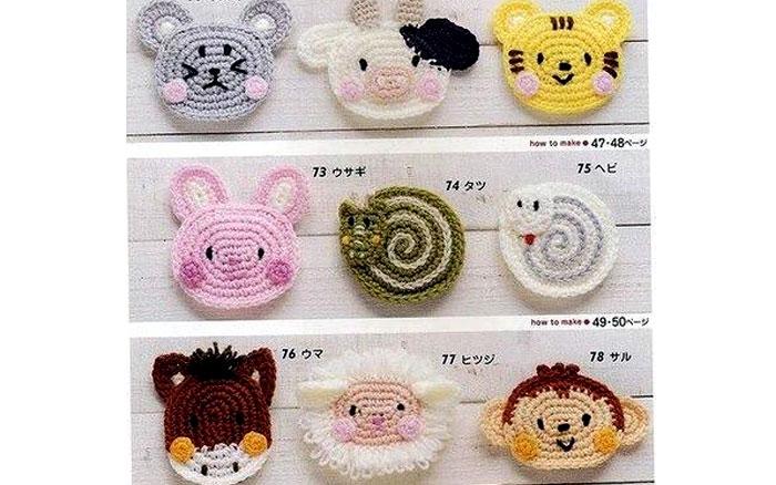 Схемы вязания миниатюрных мордочек животных