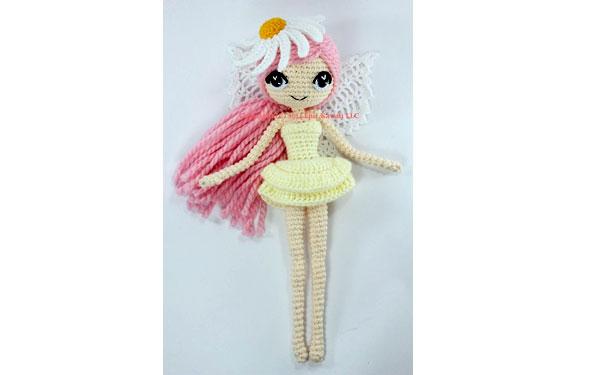 Вязаная кукла Летняя ромашковая фея. Схема