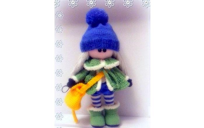 Кукла Зимняя девочка. Крючком