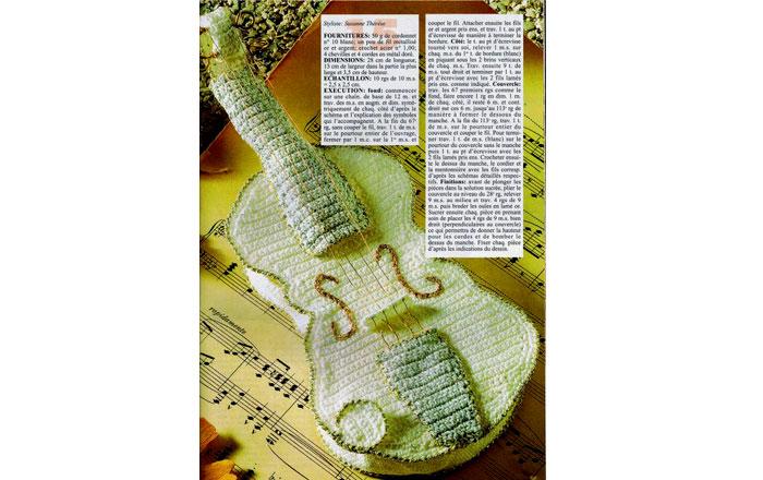 Вязаная крючком гитара. Схема