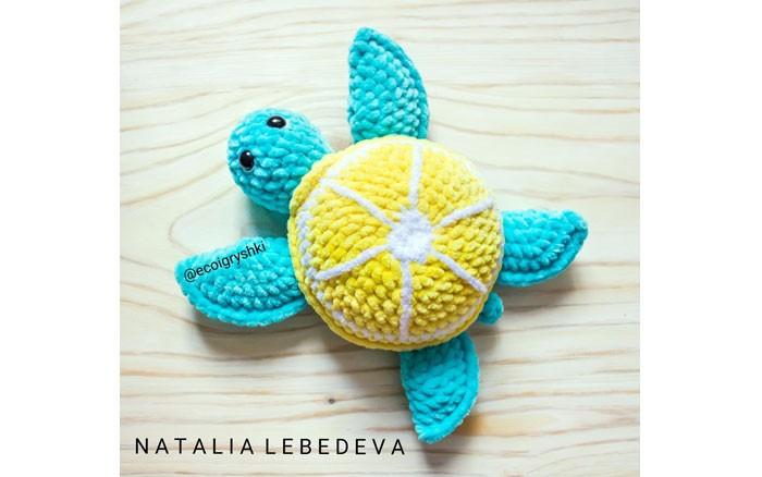 Вязаная плюшевая черепаха. Схема