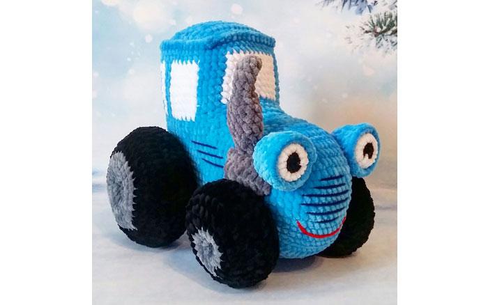 Вязаный крючком трактор. Схема