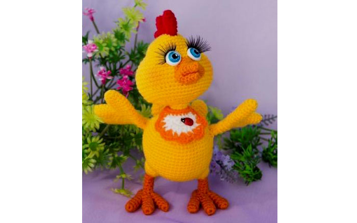 Вязаный цыпленок Семушка. Схема