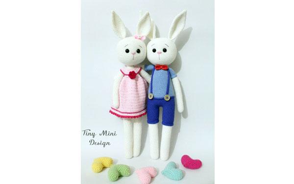 Кролики вязаные крючком. Схема