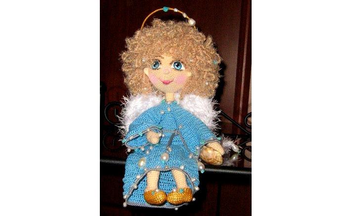 Вязаная куклаЖемчужный ангел. Схема