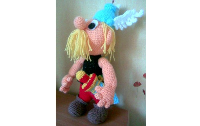 Вязаная кукла Астерикс. Схема