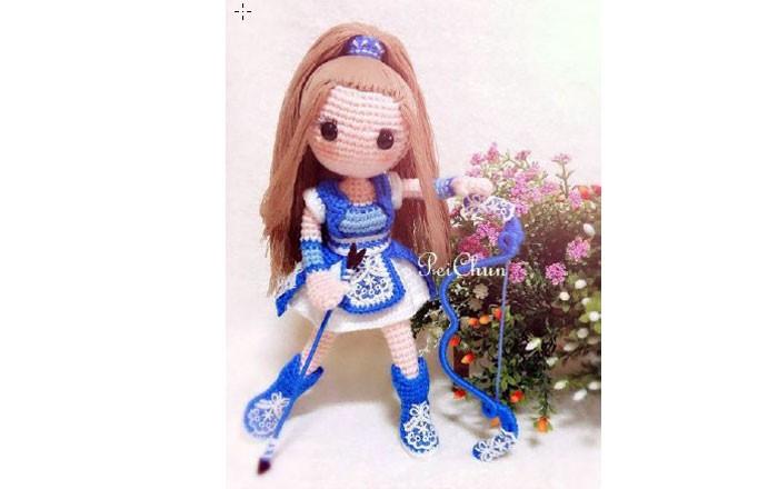 Вязаная кукла Амазонка. Схема