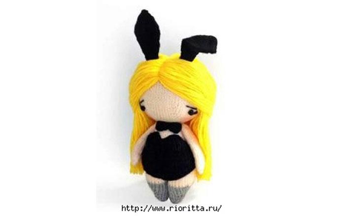 Вязаная спицами куколка. Описание